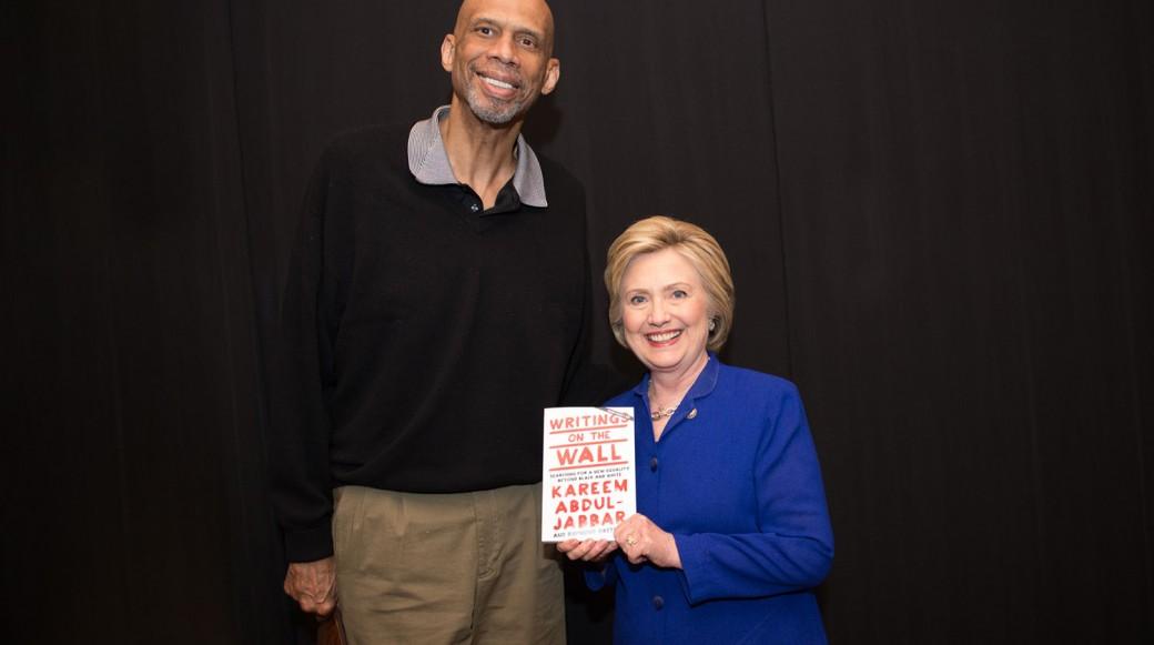 Kareem Abdul-Jabbar & Hillary Clinton