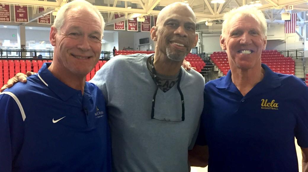 UCLA Legends Swen Nater, Kareem Abdul-Jabbar and Bill Walton getting together