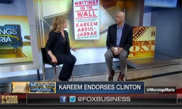 FOX Business: Kareem Abdul-Jabbar on Endorsing Hillary Clinton (VIDEO)