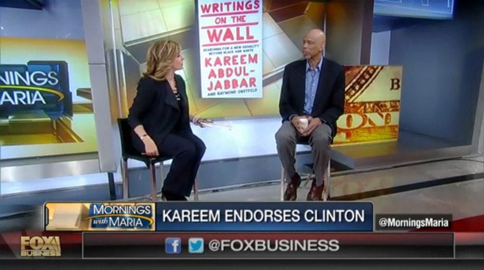 FOX Business: Kareem Abdul-Jabbar on Endorsing Hillary Clinton (VIDEO)