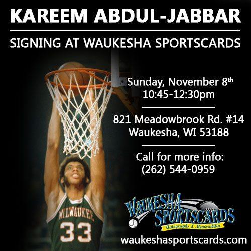 Kareem Abdul-Jabbar Milwaukee Signing