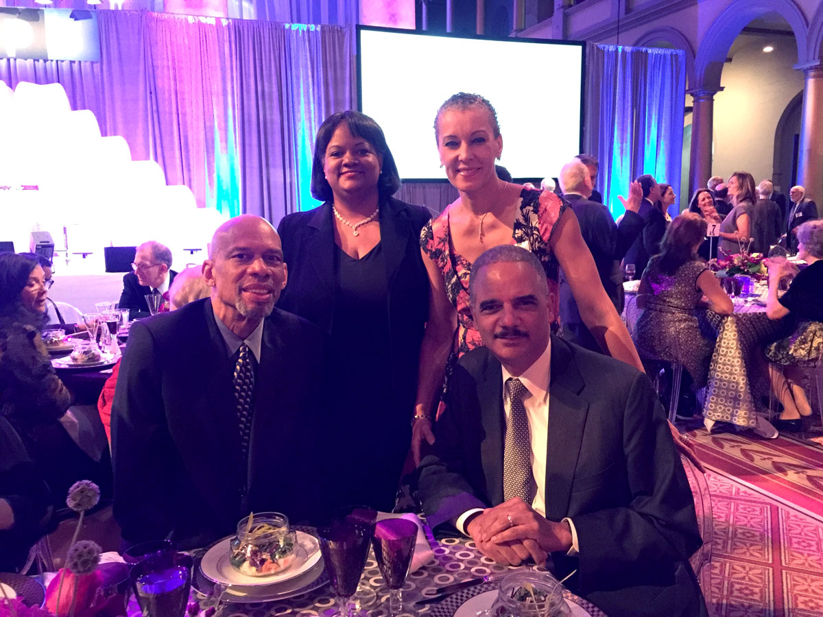 Kareem Abdul-Jabbar with Attorney General Eric Holder, Dr. Sharon Malone and 18th Surgeon General Regina Benjamin