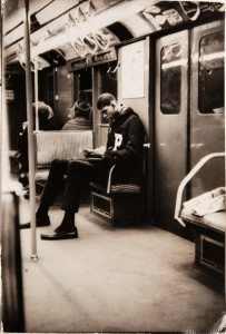 Abdul-Jabbar on the A train on the way to school in New York. (From the Private Collection of Kareem Abdul-Jabbar)