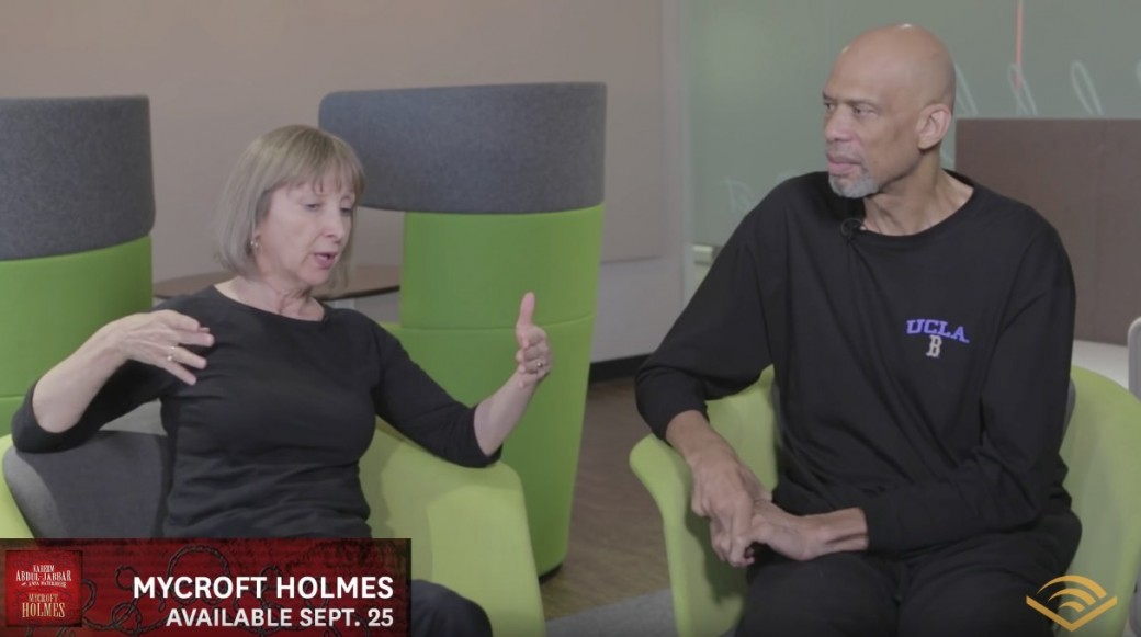 "Audible Studios Interview with ""Mycroft Holmes"" Co-authors Kareem Abdul-Jabbar and Anna Waterhouse (VIDEO)"